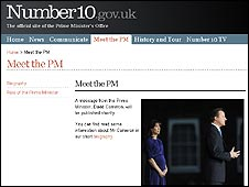 Number 10 website