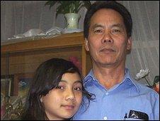 Indra Tamang with his daughter Zina (photo: Salim Rizvi)