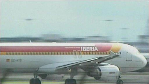 Iberia plane