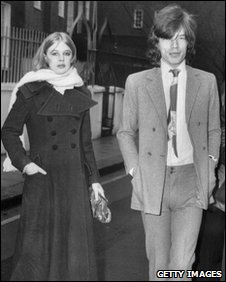 Mick Jagger and Marianne Faithfull in 1970