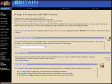 Foreign Office website 2000