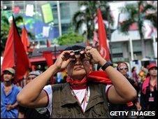Protester in Bangkok. Pic: 14 May