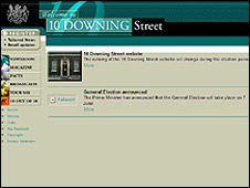 Downing Street website