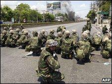 Thai soldiers in Bangkok