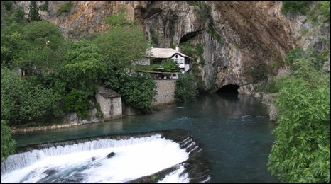 Buna river, near the town of Blagaj, Bosnia and Herzegovina