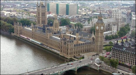 Palace ofWestminster from above