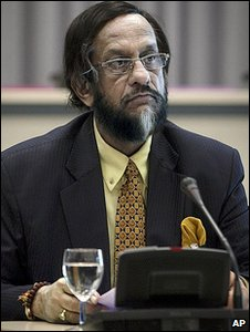 IPCC chairman Rajendra Pachauri appearing before the InterAcademy reivew panel (Image: AP)