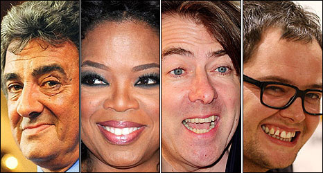 David Dickinson, Oprah Winfrey, Jonathan Ross and Alan Carr