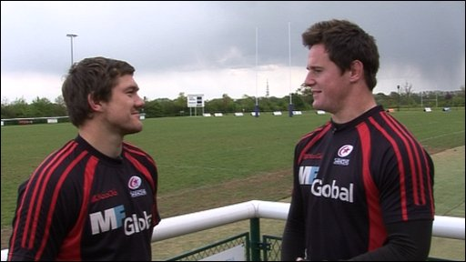 Saracens rugby stars