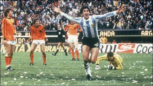 Argentina's Mario Kempes