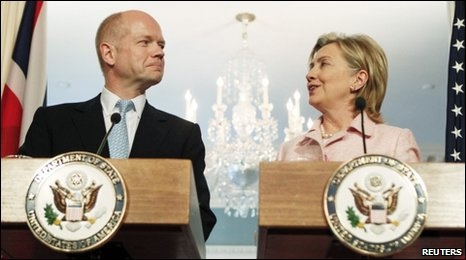 Foreign Secretary William Hague and US Secretary of State Hillary Clinton