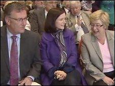 Ulster Unionist delegates Mike Nesbitt, Paula Bradshaw and Daphne Trimble