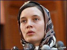 Clotilde Reiss in court in Tehran on August 2009