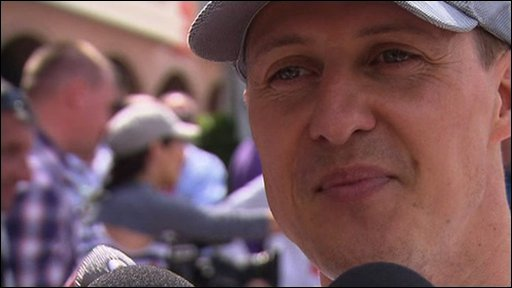 Mercedes' Michael Schumacher