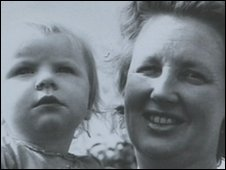 Heidi as a baby with mother Anne Ravenscroft