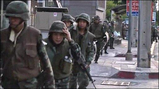 Troops in Bangkok