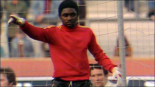 Zaire's substitute goalkeeper Tubilandu Ndimbi