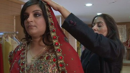 Bride preparing for her Hindu wedding