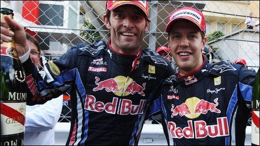 Red Bull's Mark Webber and Sebastien Vettel