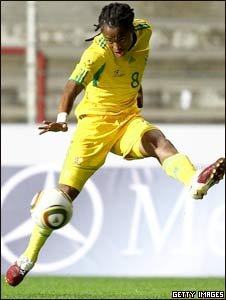 South Africa striker Katlego Mphela