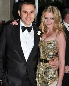 Walliams with wife Lara Stone