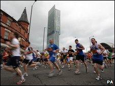 Runners in Manchester