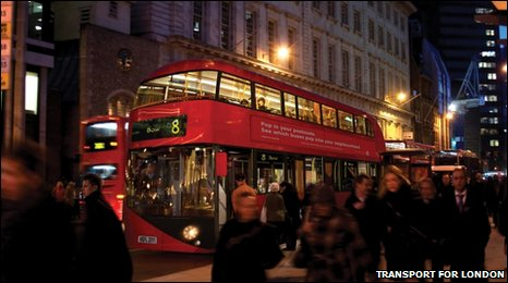 New design for the 'Routemaster' bus. Transport for London 2010