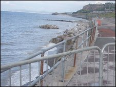 The promenade has been closed pending the repair works
