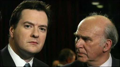 George Osborne (left) and Vince Cable