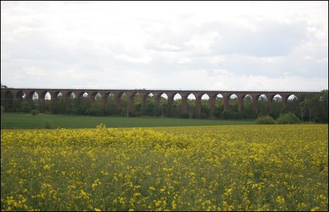 Railway viaduct at Ledbury