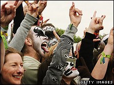 Kiss fans at Donington Park in 2008