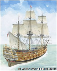 HMS Victory, artwork by John Batchelor