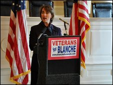Blanche Lincoln speaks to voters