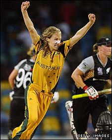 Ellyse Perry celebrates victory