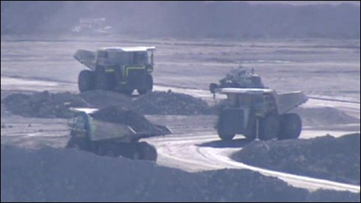 Mining trucks in Hunter Valley, New South Wales