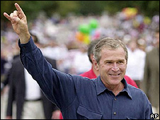 George W Bush in Texas in 2000