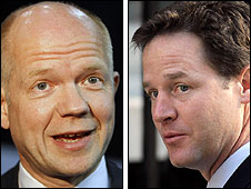 William Hague and Nick Clegg