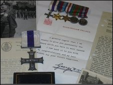 The Military Cross and a letter from King George VI