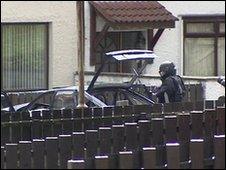 Army bomb experts were called to examine the car