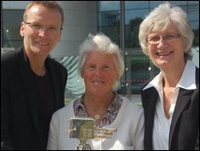 Geoff Thomas, Ann Jones and Anita Lonsbrough