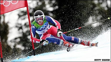 Chemmy Alcott in Winter Olympic action