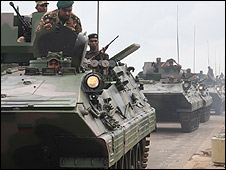 Military parade in Sri Lanka