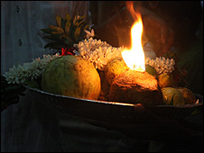 A temple offering