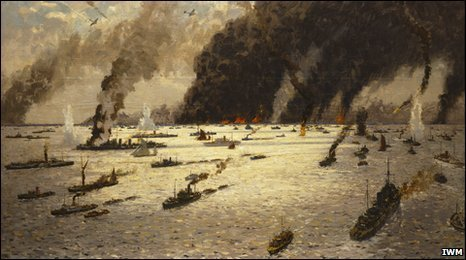 The Little Ships at Dunkirk painting - Norman Wilkinson (IWM)