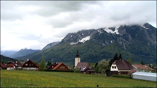 The Austrian town of Irding, near England's new training camp.