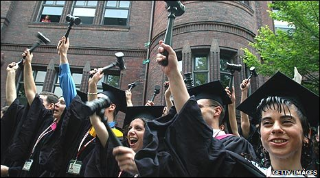 Graduates at Harvard law school
