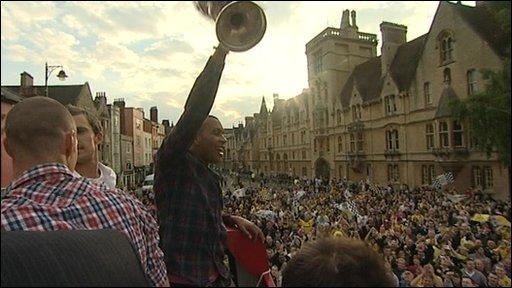 Matt Green holds the trophy aloft