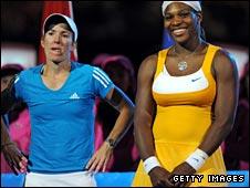Justine Henin and Serena Williams