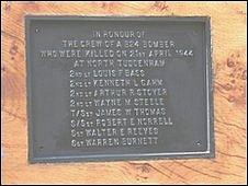 Memorial plaque in North Tuddenham