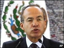 Felipe Calderon on 15 May 2010